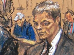 Jeffrey Kessler is going up agains the NFL and NCAA. The sketch artist's rendering of Brady is similar to the college football fans vision of their own sport. (Artist: Jane Rosenberg)